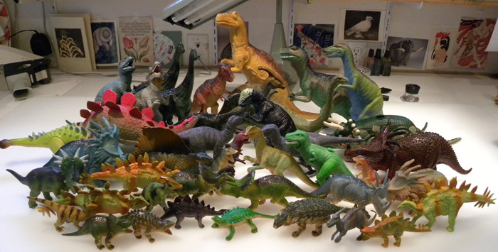 Dinosaurs Toys Collection : Dinosaur thunder books around the table