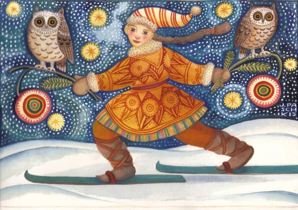Midnight Ski, Julie Paschkis