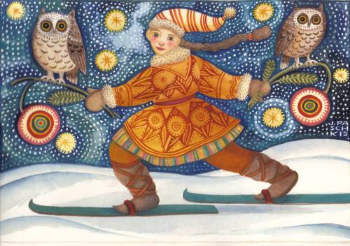Midnight Ski, Julie Paschkis