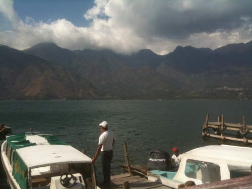 boat on Lake Atitlan