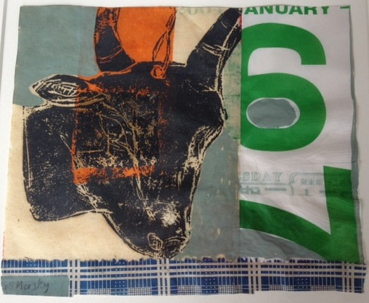 Goat collage by Deborah Mersky