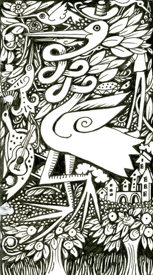 doodle in pen and ink - Julie Paschkis