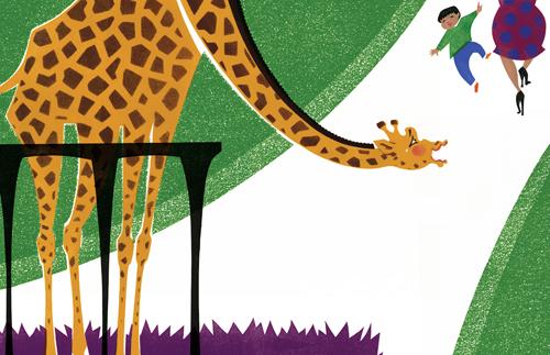 M Chodos-Irvine-ZooGiraffeHighHeels
