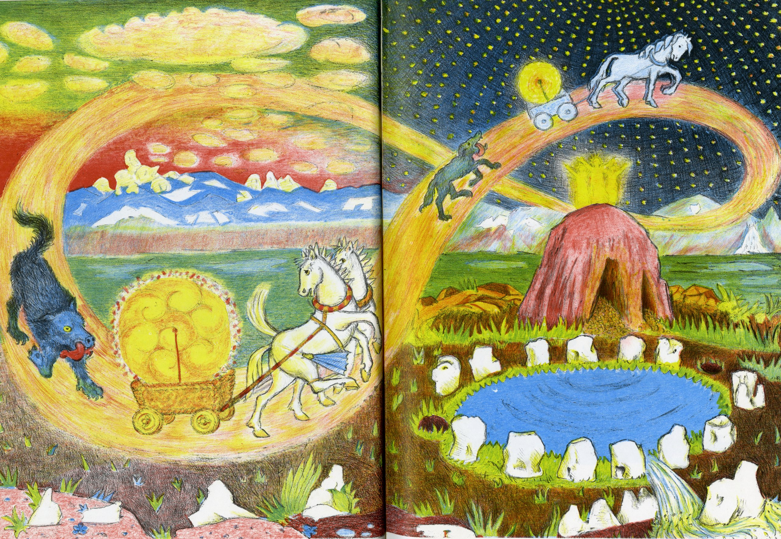 giddy up books around the table the creation of the world from d aulaire s norse gods and giants 1967