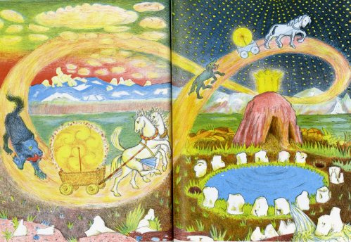 The Creation of the World from D'Aulaire's Norse Gods and Giants 1967