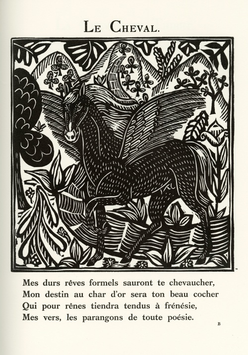 Woodcut by Raoul Dufy 1910 for Apollinaire's Parade of Orpheus