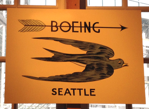Boeing logo bird arrow