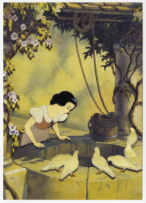 Claude Coats-Disney production image for Snow White and The Seven Dwarfs