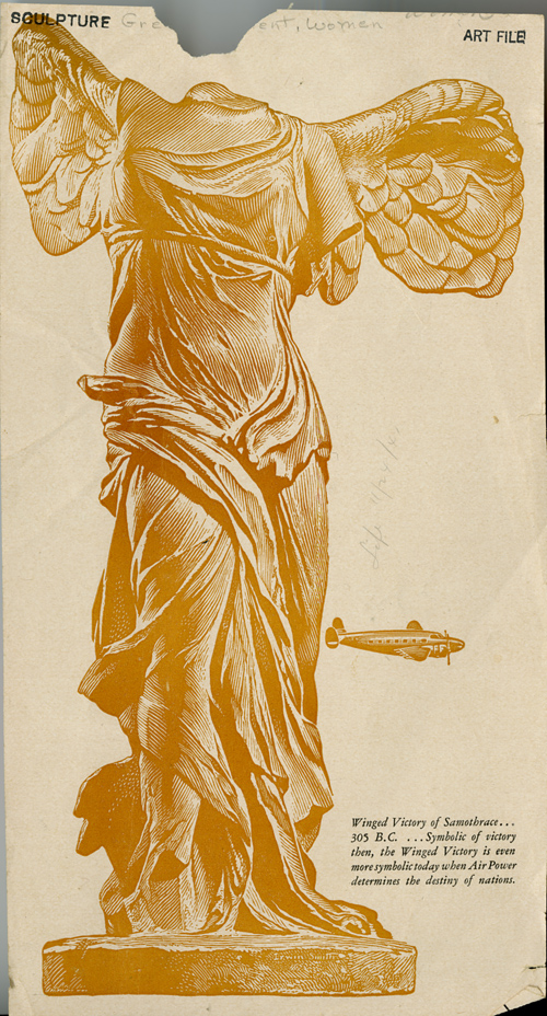 Winged Victory of Samothrace-Airlines determine the destiny of nations-artist unknown