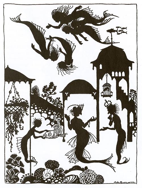 Arthur Rackam-Fairy Tale mermaid sillouettes