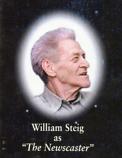 "William Steig as ""The Newscaster"""