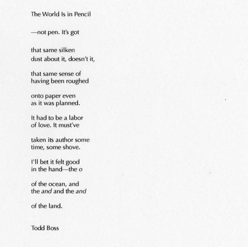 todd boss poem