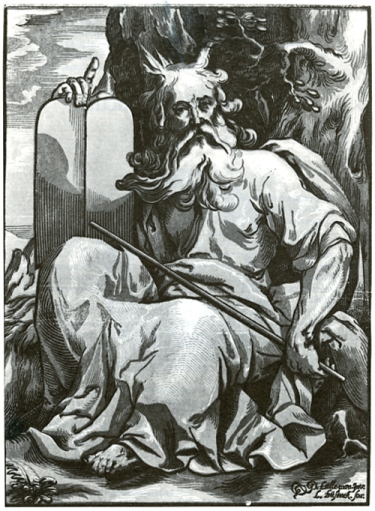 Ludolf Businck-Moses with the Tablets of the Law