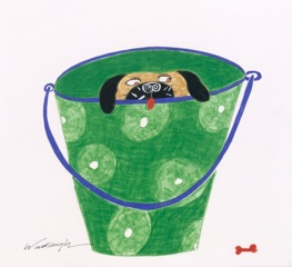Pug in a Pail by Woodleigh Hubbard