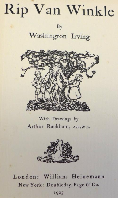 Rackham-Rip V W-title page