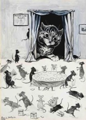 Mouse Club Rules by Louis Wain b. 1860