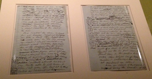 BL Frankenstein ms-Mary Shelley w comments by Percy Shelley