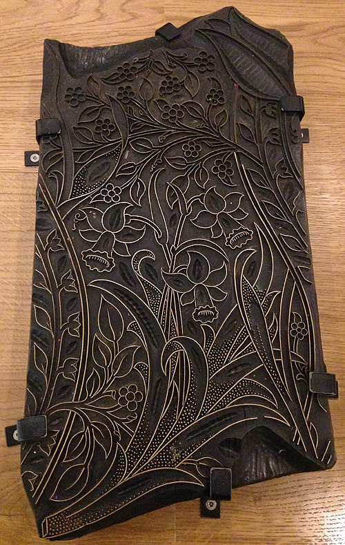 W Morris-Hand-carved woodblock was used by the M & Co printers to make Daffodil pattern