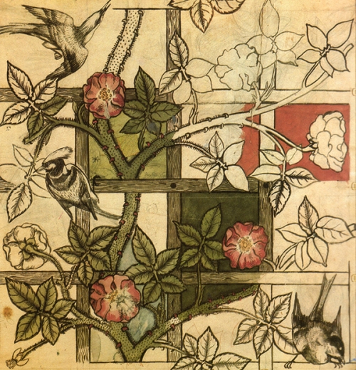 W Morris-Trellis wallpaper design (1862)