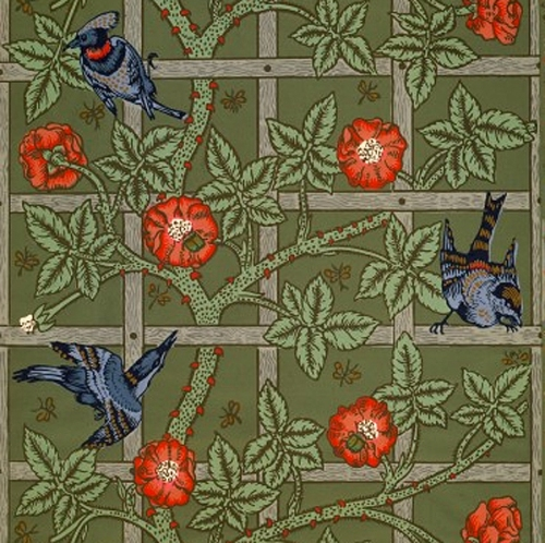 W Morris-Trellis wallpaper (1862)