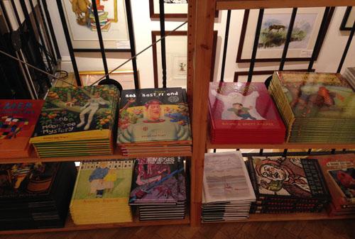 Illustration Cupboard bookshelf