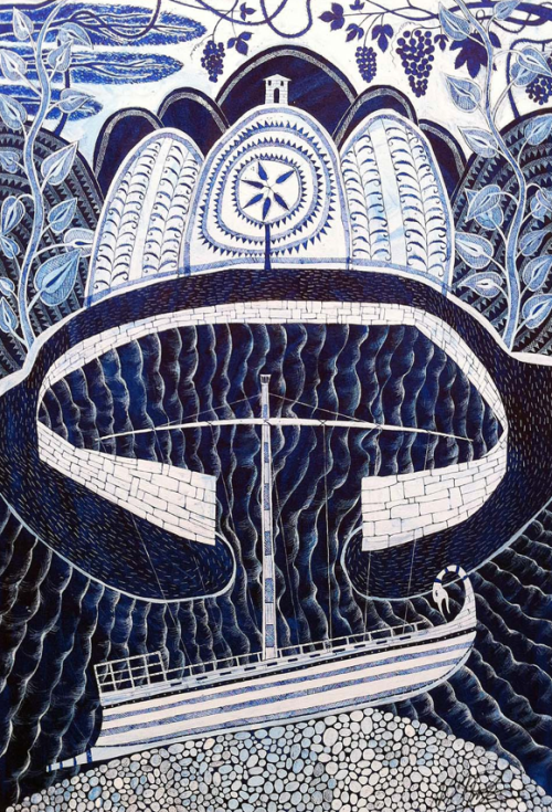 Neil Packer-The Stone Ship Outside the Harbour