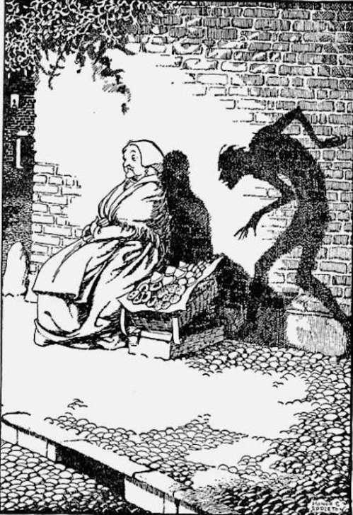 Honor Appleton's 1932 illustration for Andersen's The Shadow