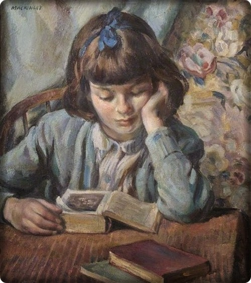 The Young Reader by Miguel Mackinlay