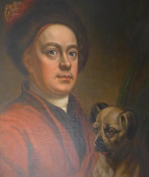 Hogarth and dog selfie detail
