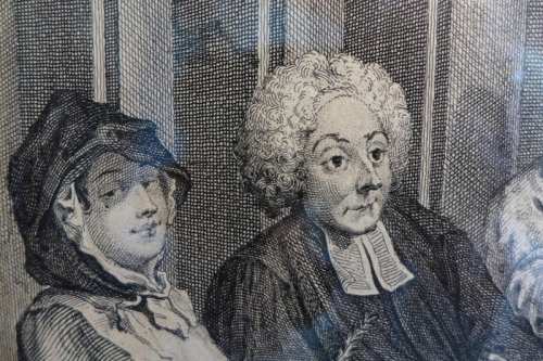 W Hogarth-Detail from Harlots Progress plate 6