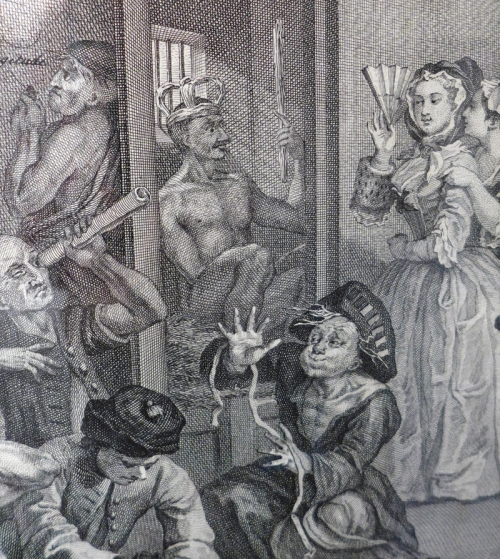 W Hogarth-Detail from Rakes Progress plate 8