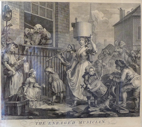 W Hogarth-The Enraged Musician