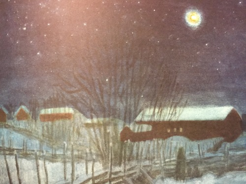 Harald Wiberg illustration from Christmas in the Stable