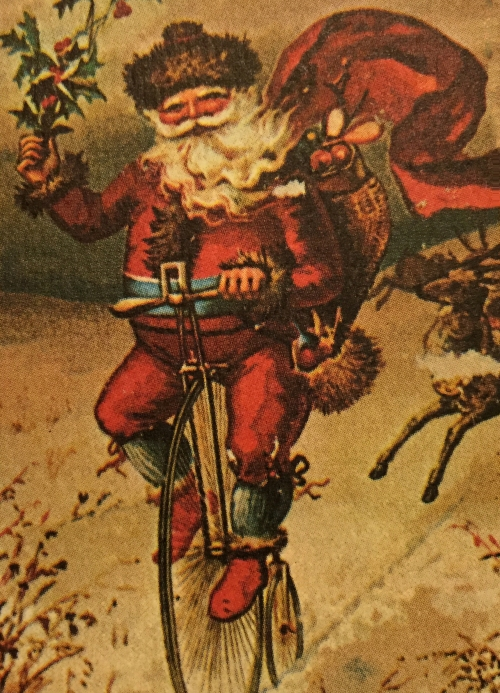 bicycle santa