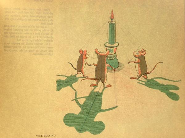 G White-Mice Playing-image