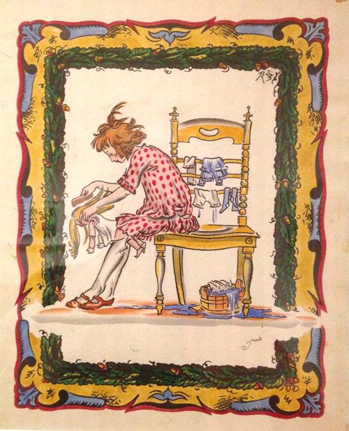 Vladimir Konashevitz 1925-Unpublished illustration-Pictures For Little Ones
