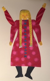 yellow braid paper doll copy