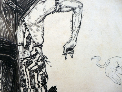 A Rackham-sketch detail