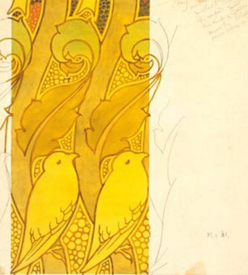 CFA Voysey-birds and berries design