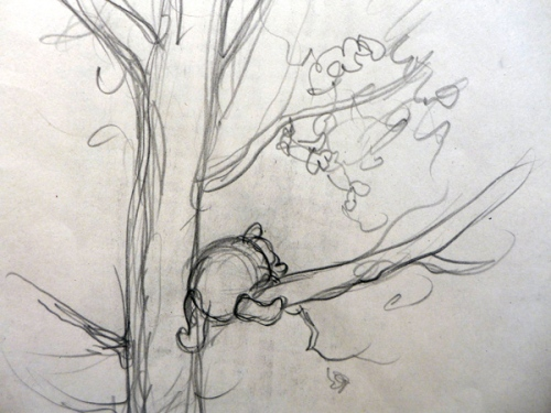 E H Shepard-WTP in tree sketch