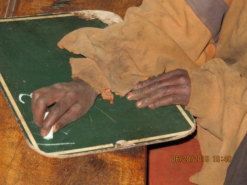 hands on slate