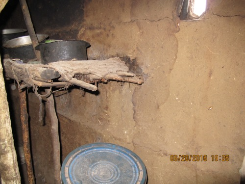kitchen in hut
