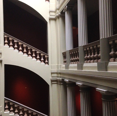 V&A red stairways