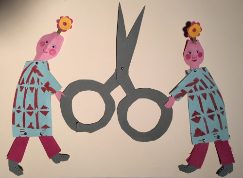 Paschkis scissor twins paper dolls