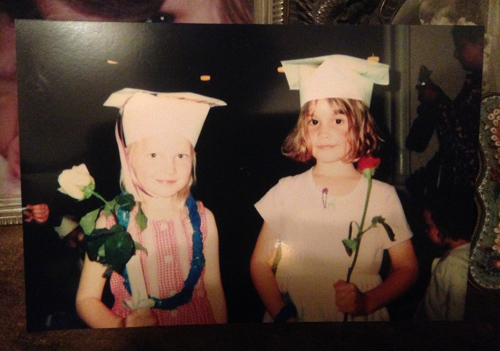 Clare and Mary preschool graduation