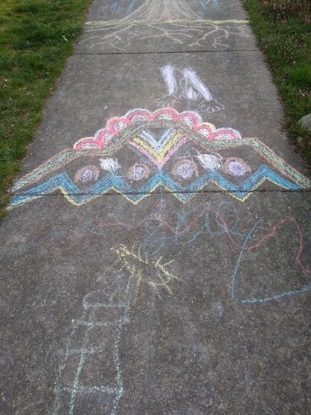 BATT 1 Chalk Spaceship